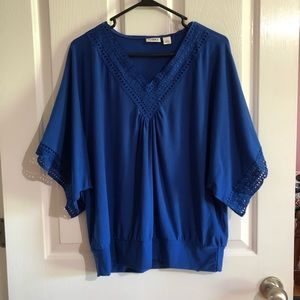 Royal blue blouse by Cato size  small